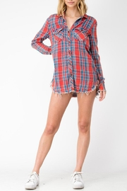 Sneak Peek Plaid Chambray Top - Product Mini Image