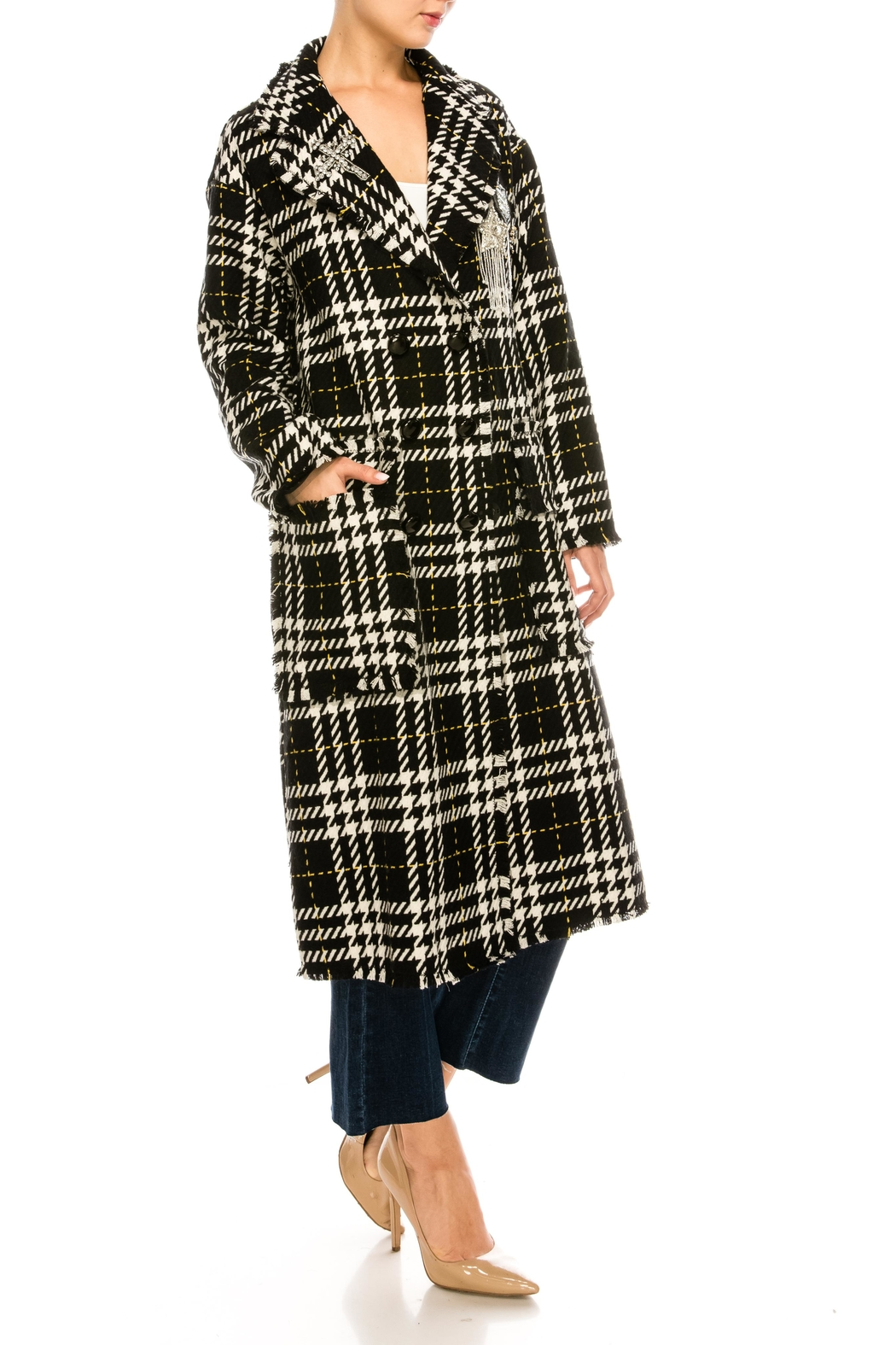 L'atiste Plaid Check Jacket - Side Cropped Image