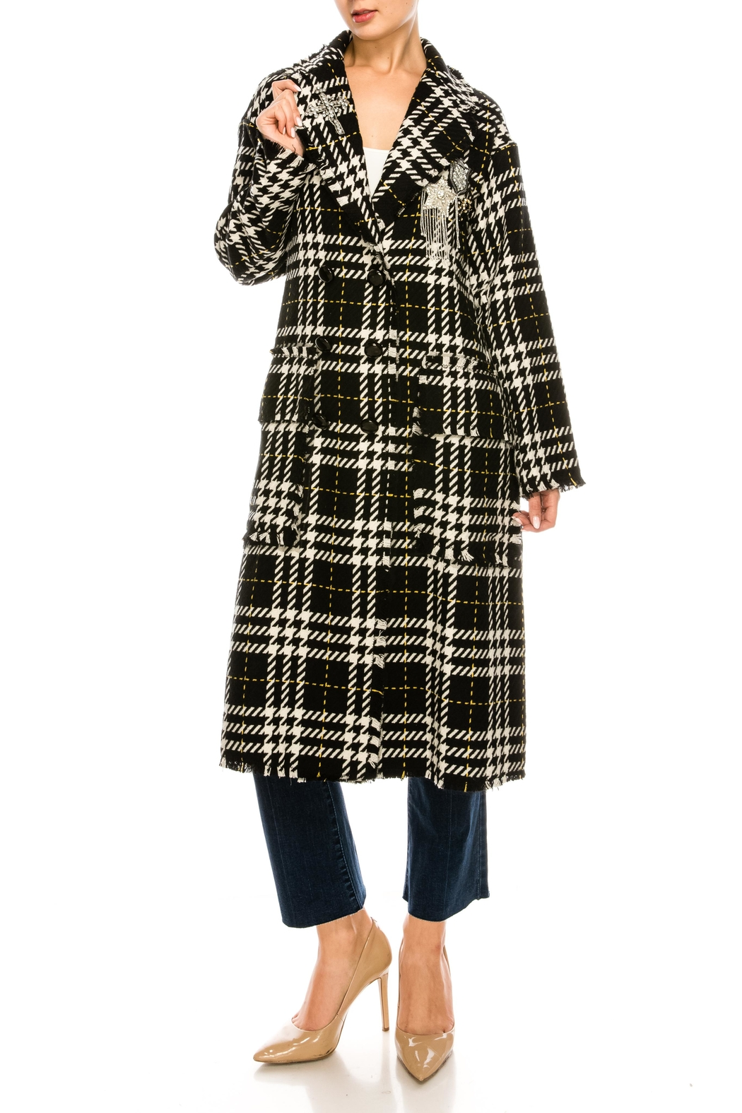 L'atiste Plaid Check Jacket - Front Full Image