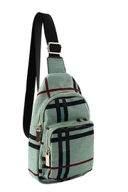 Calin Collection Plaid Check Mini Sling Backpack - Product Mini Image