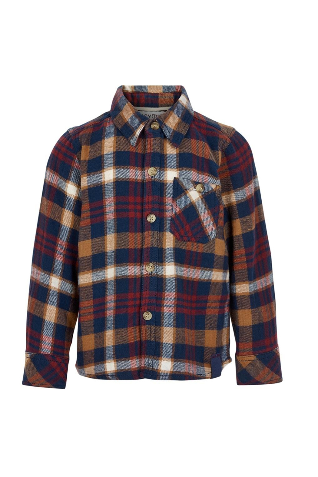 Minymo Plaid Check Shirt - Front Cropped Image