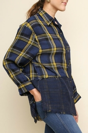 Umgee USA Plaid Checkered Button-Up - Side cropped