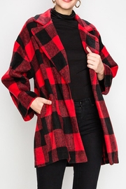 Favlux Plaid Collared Jacket - Product Mini Image