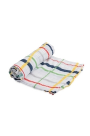 Little Unicorn Plaid Cotton Swaddle - Front cropped