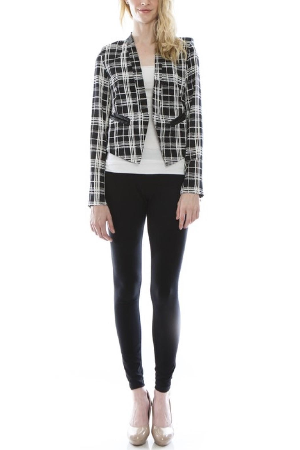 eed7b2a351 virgin only Plaid Cropped Blazer from Orange County by OC Avenue ...