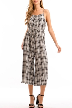 Love in  Plaid Culotte Jumper - Product List Image