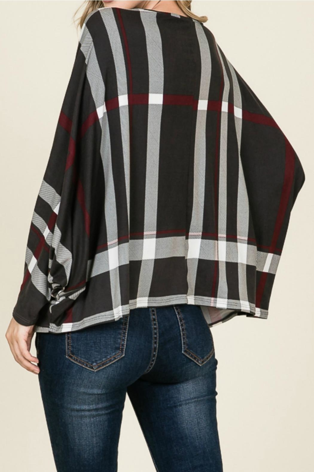 Reborn J Plaid Dolman Top - Front Full Image