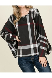 Reborn J Plaid Dolman Top - Front cropped