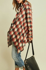 Entro Plaid Draped Jacket - Side cropped