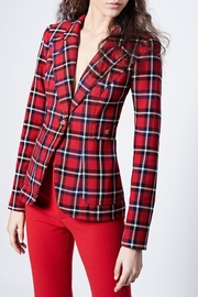 Smythe Plaid Duchess Blazer - Product Mini Image