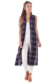 Mud Pie Plaid Duster - Product Mini Image