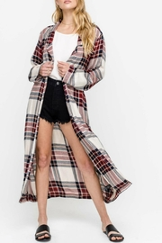 Lush Plaid Duster Jacket - Product Mini Image