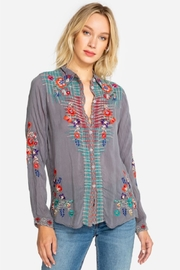 Johnny Was Plaid Embroidery Shirt - Product Mini Image