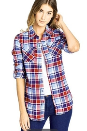 BlueAge Jeans Plaid Flannel Shirt - Product Mini Image
