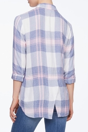 Beach Lunch Lounge Plaid Flannel Shirt - Front full body
