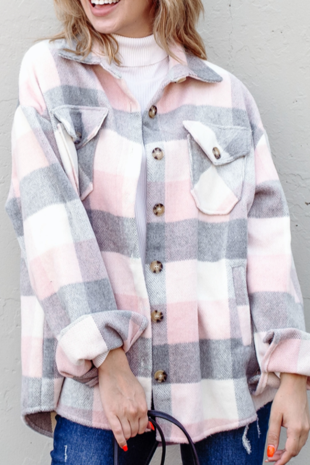 And the Why Plaid Flannel Shirt Jacket - Main Image