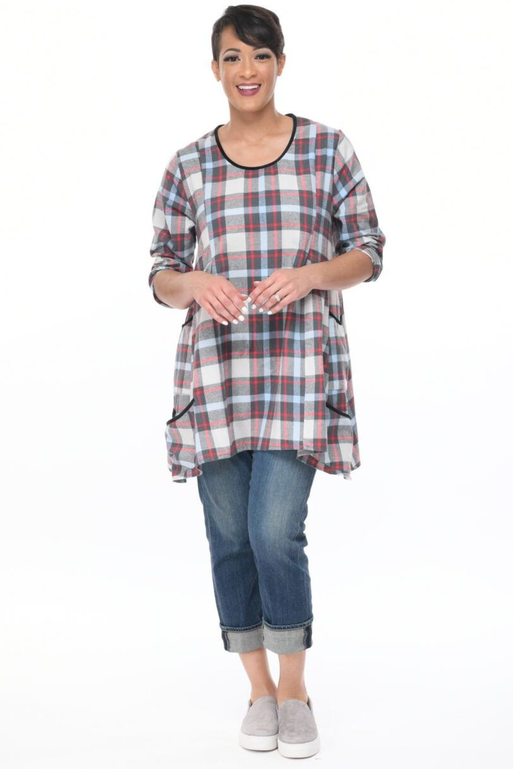 177ca6bafa0 Tulip Plaid Flannel Tunic from Cambria by New Moon — Shoptiques