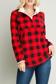 Entro Plaid Fleece Top - Product Mini Image