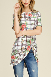 White Birch  Plaid & Floral Tee - Product Mini Image