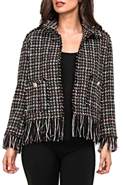 Adore Plaid Fringe Jacket - Product Mini Image