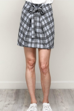 Mustard Seed Plaid Front-Tie Skirt - Product List Image