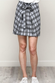 Mustard Seed Plaid Front-Tie Skirt - Product Mini Image