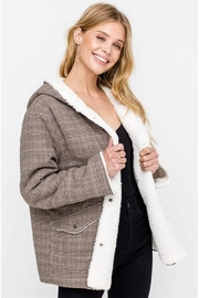 Lush Plaid Fur Jacket - Product Mini Image