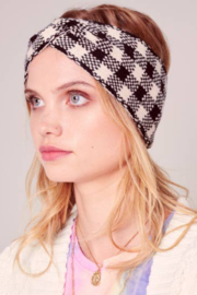 avenue zoe  Plaid Headband - Front cropped