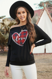 Shewin Plaid Heart Love Shirt - Front cropped