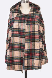 Lyn -Maree's Plaid Hooded Cape - Front cropped