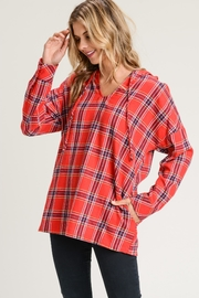 Jodifl Plaid Hooded Pullover - Product Mini Image