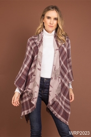 Simply Noelle Plaid Hooded Wrap - Product Mini Image
