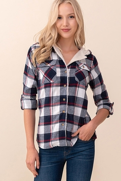 Passport Plaid Hoodie Shirt - Product List Image