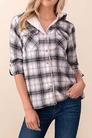 Passport Plaid Hoodie Shirt - Product Mini Image