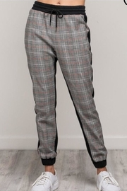 Mustard Seed Plaid Jogger Pants - Product Mini Image