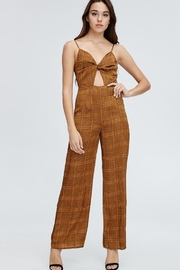 Emory Park Plaid Jumpsuit - Product Mini Image