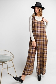 Easel  Plaid Jumpsuit - Side cropped