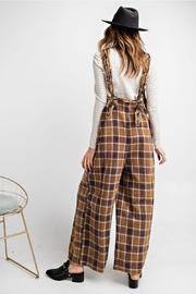 Easel  Plaid Jumpsuit - Back cropped