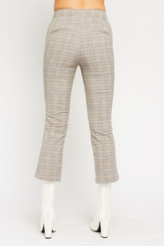 Olivaceous  Plaid Kick Flairs - Back cropped