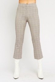 Olivaceous  Plaid Kick Flairs - Front full body