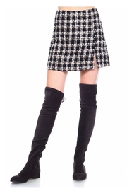 TCEC Plaid Knit Skirt - Product Mini Image