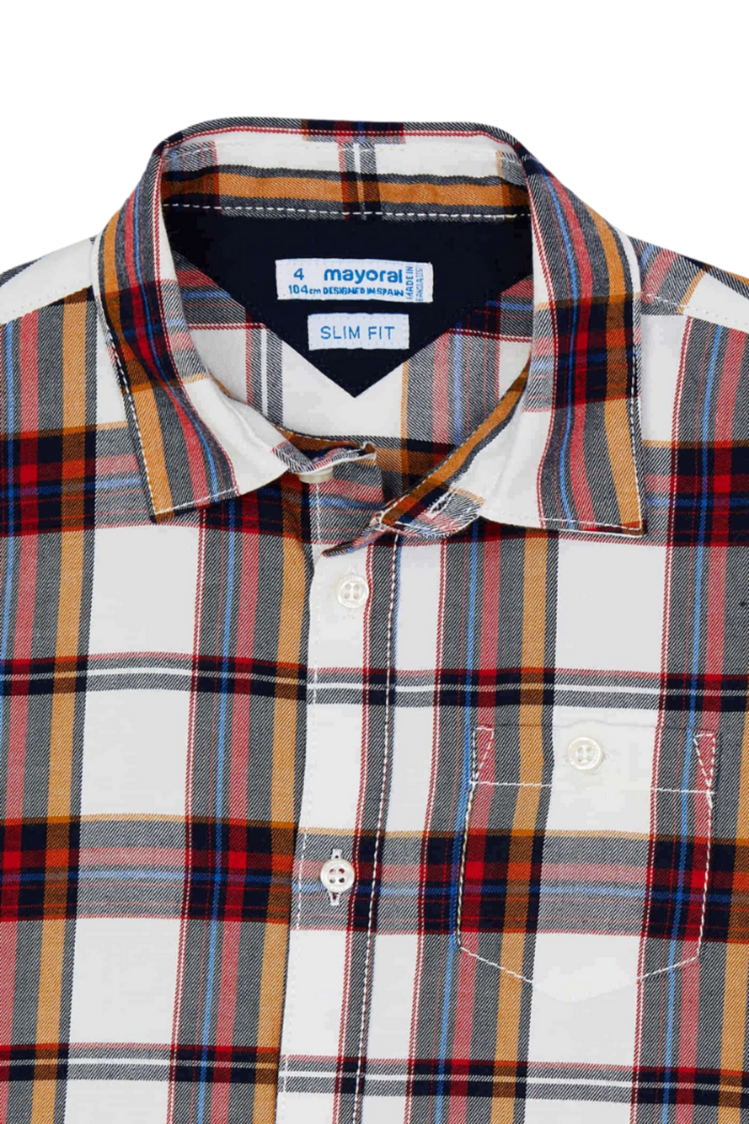 Mayoral Plaid L/S Button Down - Back Cropped Image
