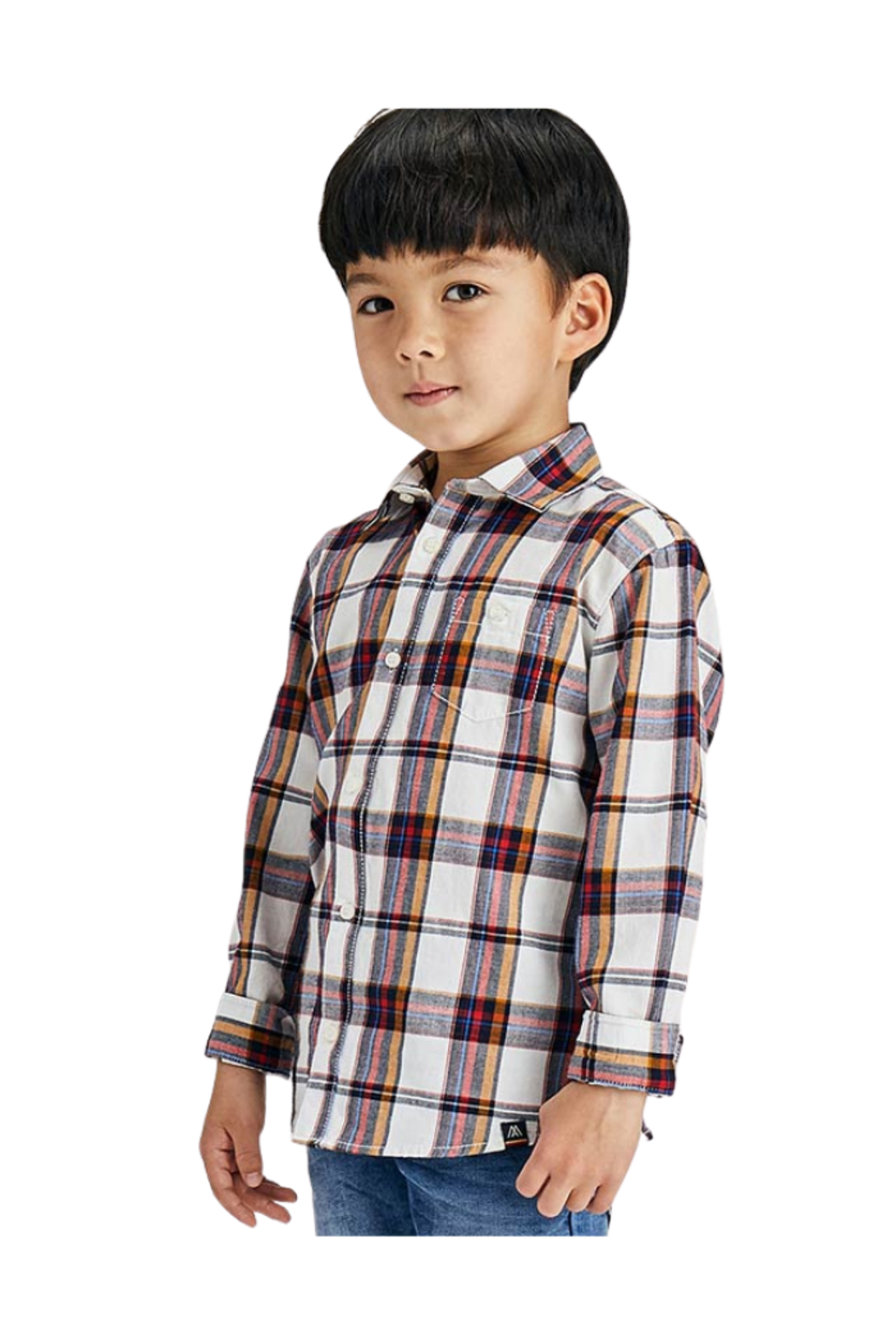Mayoral Plaid L/S Button Down - Side Cropped Image