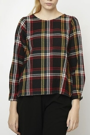 Compania Fantastica Plaid L/S Top - Product Mini Image