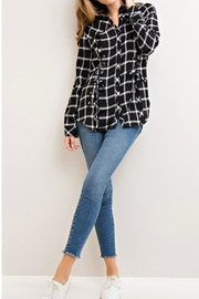 Entro Plaid Lace-Up Top - Other
