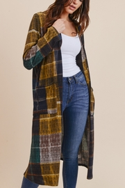 JODIFIL PLAID LONG BODY CARDIGAN - Product Mini Image