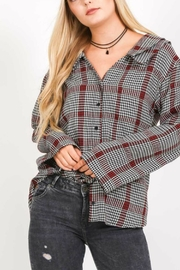 Love Stitch Plaid Long-Sleeve Top - Product Mini Image