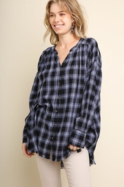 Umgee USA Plaid Mandarin Buttondown - Product Mini Image