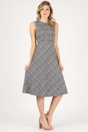 Soprano Plaid Midi Dress - Product Mini Image