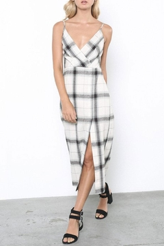 Grade and Gather Plaid Midi Dress - Alternate List Image